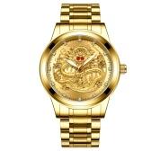 Fenzun embossed gold dragon watch men