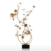Tooarts Fruit Modern Sculpture Stainless Steel Ornament Abstract Sculpture