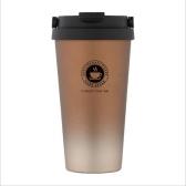 Nueva taza de café de doble capa de acero inoxidable 304 con revestimiento elástico Taza termo Taza de agua 500 ml