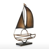 Sailing Wine Bottle Holder Iron Art European Creative Wine Rack Classic Bottle Storage Holder Practical Decoration Champagne & Black