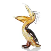 Sculpture Tooarts Cormorant verre Home Decor ornement animal cadeau Artisanat Décoration