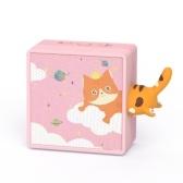 Altavoz inalámbrico BT Caja de sonido portátil Dibujos animados lindo que mira Mini Subwoofer casero