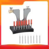 Broken Screw Removal Tool Watchmaker Repair Tool Stripped Screw Remover Damaged Screw Extractor with 8 Pins for Watch