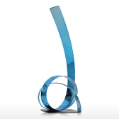 The Rising Ribbon Metalowa rzeźba Iron Modern Sculpture Abstract Sculpture Handicraft Decoration Ornament Blue