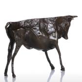 Zbyt pierwotny dzikiej bydła rzeźba z brązu Desal ornament dekoracyjny delikatny