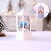 Simulazione natalizia lampada fl-ame decorazione desktop luci led
