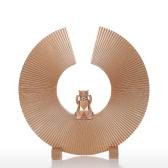 Tomfeel gatto di fortuna Resina Scultura Arte Moderna coperta decorazione Statue Figurine Ornament