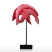 The Trail of the Myself Digital Sculpture Trendy abstrakcyjne rzeźby Czerwone i białe nowoczesne akcenty wystroju domu