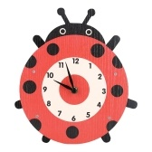 Tooarts Cartoon Animal Clock, Swinging Ladybug Clock, MDF Wooden Wall Clock, Clock for Kids Room Living Room, Home Decor, Easy to Install, One AA Battery Operated(not include)