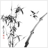 Bamboo Wall Art Chinese Painting of Bamboo Nature Painting Picture for Home Decor Decoration Gift