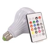Ampoule LED pour haut-parleur Bluetooth sans fil 12W E27