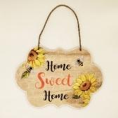 Bee Festival Enfeites de madeira Decoração de paisagem para casa de férias