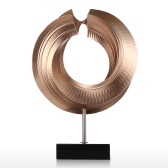 Twist Tomfeel Fiberglass Sculpture Home Decoration Original Design Circle Elegant