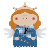 Tooarts Cartoon Clock, Swinging Angel Clock, MDF Wooden Wall Clock, Clock for Kids Room Living Room, Home Decor, Easy to Install, One AA Battery Operated(not include)