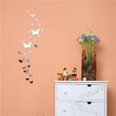 naklejki ścienne z lustrem motylkowym