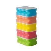 5 unids / set esponja de limpieza para lavavajillas domésticos