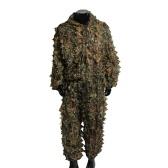 Мужская 3D Тактическая Снайперская Одежда Легкий Камуфляжный Костюм Ghillie Leaf