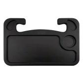 Стол для руля Автомобильный лоток Ноутбук Обед Дорожный стол Компактный крючок на многофункциональном держателе для еды Рабочий серый / черный