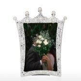 Tooarts Schmuck Fotorahmen Aluminium Material Mosaik Diamant und Perle handgefertigt Desktop Dekoration Fotorahmen