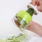 Cortador de verduras en espiral de mano Cortador Rallador Pepino Zanahoria Fruta Tallarines Spaghetti Maker