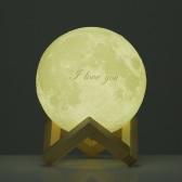 День Tooarts Луны лампу ❤ Валентина Подарок Я тебя люблю ❤ 3D Печатный светодиодные Современное искусство Home Decor Moon In My Room США Plug 100-240V 50 / 60Hz