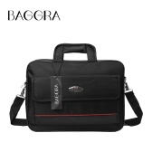 New Oxford Laptop Bag unisex impermeabile due cerniere con velcro tasca Grab curare gli affari di Borsa a tracolla Black1 / Black2