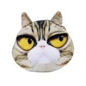 Frauen süße Katze Münze Geldbörse Mini Animal Print-Geldbörse Plüsch Reißverschluss Fall Münze Beutel Tasche