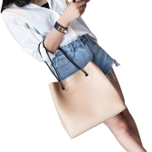 Zestaw torebek damskich PU Leather Casual Tote Bag Torba na ramię Solidna torba kompozytowa