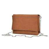 Femmes Sac à bandoulière en daim sac à bandoulière sac à bandoulière chaîne avant Casual Suedtte Mini Messenger Bag