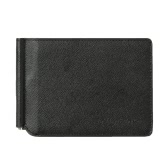 Homens Moda Dinheiro carteira de clip PU cartão Couro titular do Business Case Wallet 2 Folds Dinheiro Clipe