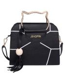 Bolsa de mão de metal para mulheres Bolsa de couro em couro PU Bolsa de ombro