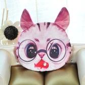 Hübsch Frauen Münze Geldbeutel Katze Tier Print Mini Geldbörse Schließung kleine Kupplung Zipptasche