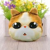 Moda bonito mulheres moeda bolsa gato Animal impressão Mini carteira Zipper encerramento pequeno saco de embreagem