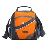 Neue Unisex Nylon Umhängetasche Tasche Wasserdichte-Kontrast-Farben-Reißverschluss-Multi-Taschen beiläufige Sport im Freien Kleine Schultertasche Handtasche