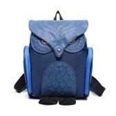 Nueva moda mujeres buho forma mochila solapa sobre cartera estudiante bolsas con cremallera bolsillo Color sólido
