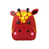 Children Backpack Cartoon Animal Calf Print Nylon Zipper Adjustable Strap Boys Girls Casual School Travel Bag