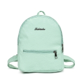 New Fashion Women Girl PU Mochila Zipper Pocket Correias ajustáveis ​​Schoolbag Traveling Student Bag