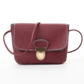New Mulheres Messenger Bags PU couro Crossbody Saco Sólidos Flap Hasp Casual Vintage Pequenas Bolsas de ombro