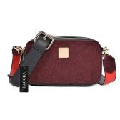 Meninas Mulheres Bolsa de ombro PU Bolsa de camurça Senhoras pequenas Crossbody Messenger Mini Bag Preto / Brown / Borgonha