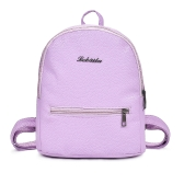 New Fashion Women Girl PU Backpack Zipper Pocket Adjustable Straps Schoolbag Travelling Student Bag