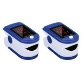 2 pièces Clip doigt oxymètre de pouls affichage L-ED Mini moniteur SpO2 moniteur de saturation en oxygène mesure de la fréquence cardiaque Mini Portable pour un usage quotidien soins sains