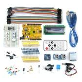 Micro USB UNO R3 BreadBoard avançar Kit w / sensores / LCD Display Module / Tutorial para Arduino