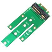 WBTUO LM-121M PCI-E M.2 Converter Cartão NGff Chave B Chave M para adaptador de conector mSATA Verde