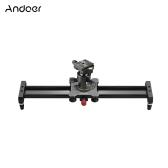 Andoer 40 cm / 15,7 zoll Aluminiumlegierung Kamera Video Slider Track Rail Stabilisator mit Kugelkopf Schnellwechselplatte