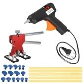 Carro Paintless Ferramentas de Reparação Dent Dent Extrator + 15 Pcs Cola Tabs + 110-240 V 40 W Hot Melt Glue Gun w / 10 pcs Cola varas