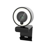 1080P HD Webcam with Ring Fill Light Autofocus Built in Microphone Webcam for Video/Live Streaming/Videoconferencing Smooth Type