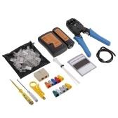 12 pcs LAN Tester Crimping plier Set Cable Tester LAN Network Repair Tool Kit Wire Stripper/Crimper