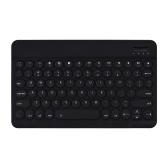 0301 Беспроводная клавиатура BT Ультратонкая мини-портативная круглая клавиатура с 78 клавишами для планшета Android / Windows / iOS / ноутбука Белый