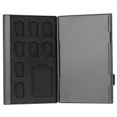 Liga de alumínio armazenamento de cartão de memória carregando protetor caixa caixa tampa titular carteira para SD TF cartão portátil