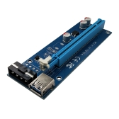 PCI-E Express 1X to 16X Riser Card 4pin USB 3.0 Extender Cable with Power Supply for Bitcoin Mining